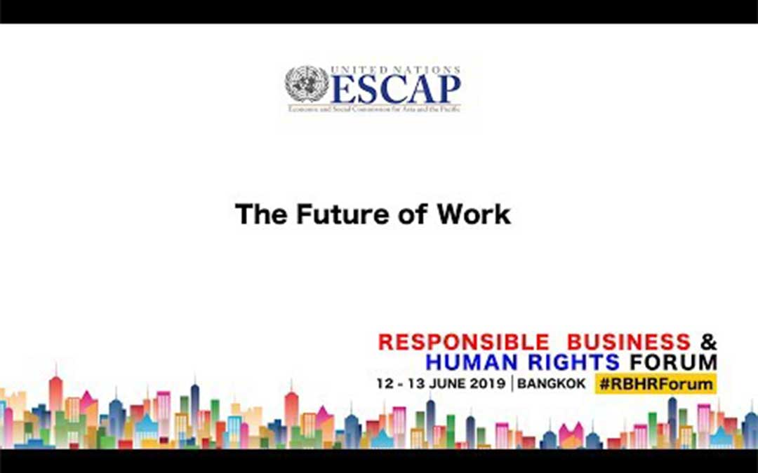 ECOP DG at the UNESCAP Responsible Business and Human Rights Forum