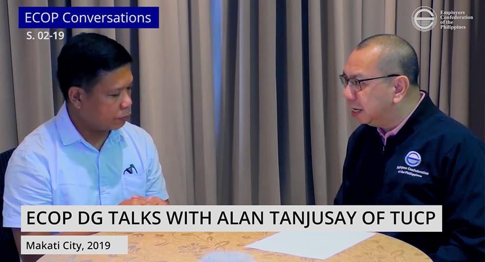 ECOP DG interviews Alan Tanjusay of TUCP