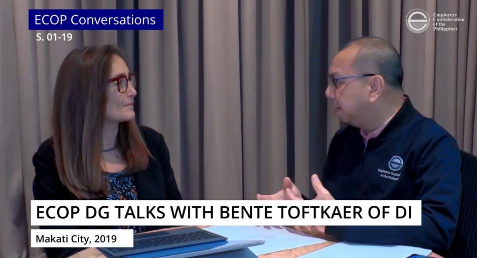 ECOP DG talks with Bente Toftkaer of DI