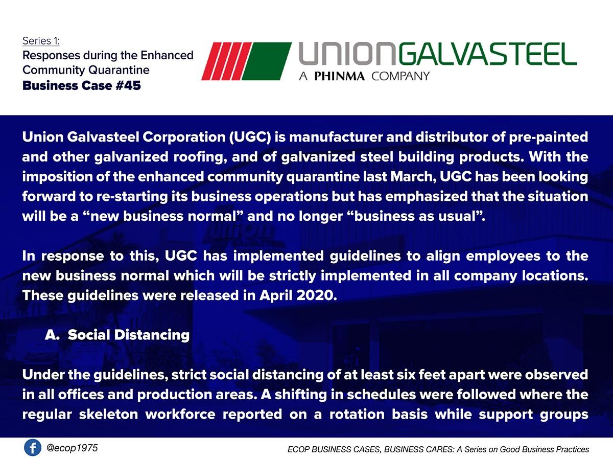 Best Practices of Union Galvasteel Corporation (UGC)