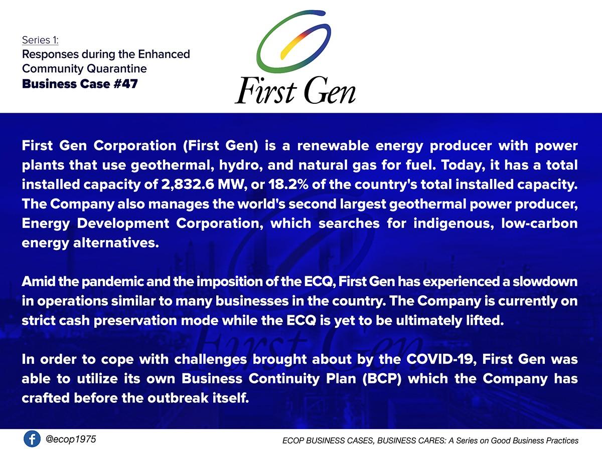 Best Practices of First Gen Corporation (First Gen)