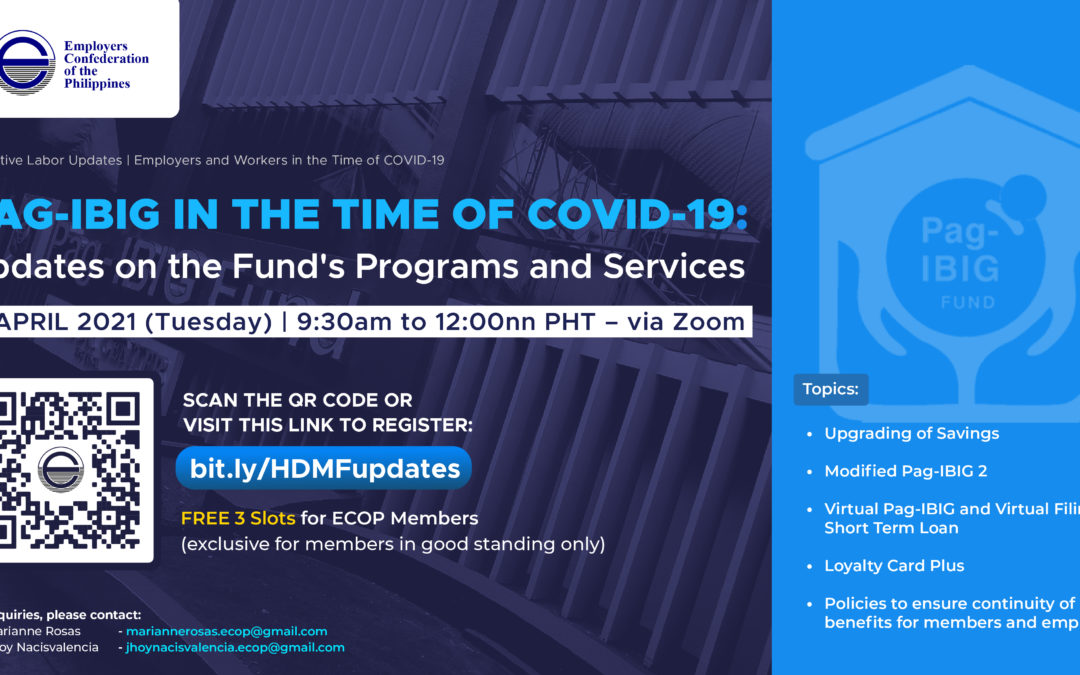 """ECOP holds webinar on """"Pag-IBIG in the Time of COVID-19"""""""
