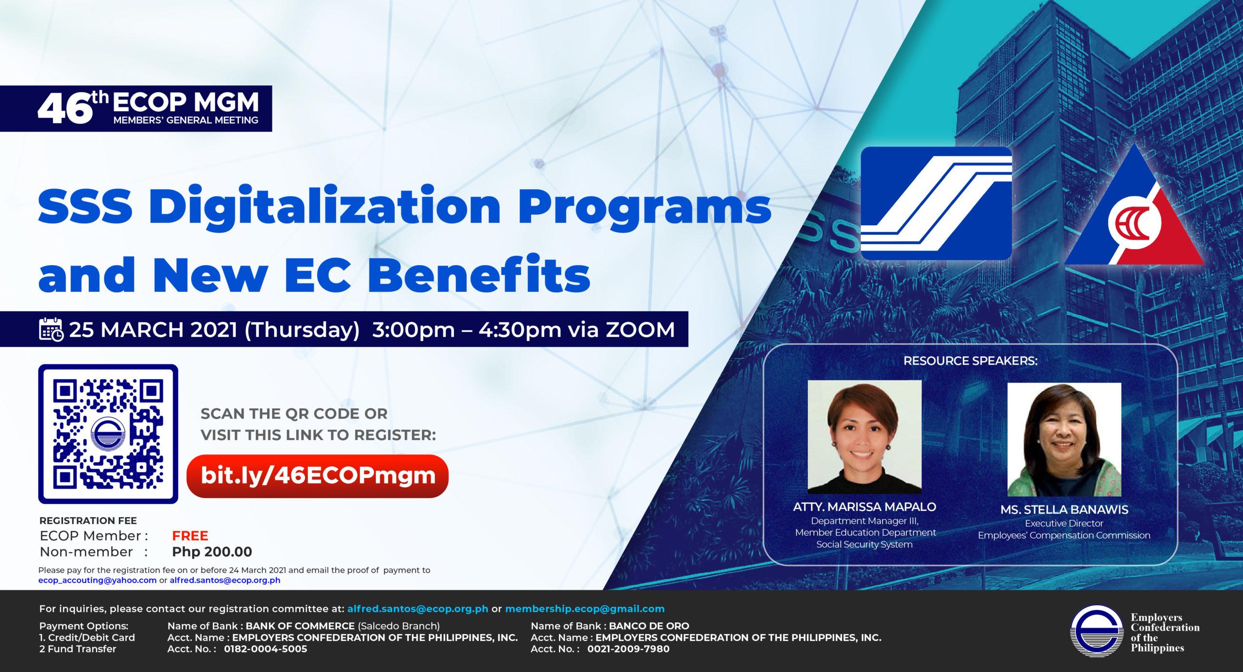 SSS Digitalization Programs and New EC Benefits
