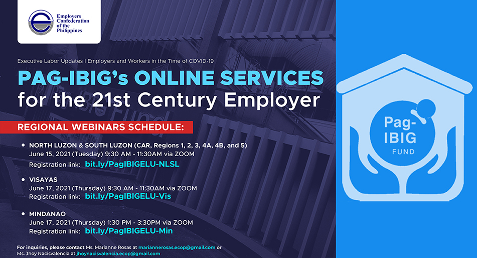 ECOP to hold regional webinars on Pag-IBIG's online services