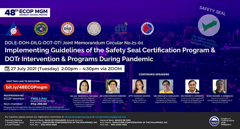 ECOP Members General Meeting tackles safety seal certification